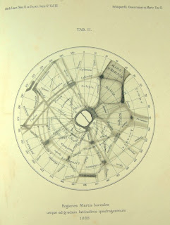 Schiaparelli map of Mars, based on 1888 observations, image from peacay's photostream, Flickr.