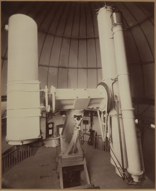 The 30 inch photographic reflector and 26 inch photographic refractor mounted together at the Royal Observatory, Greenwich. © Science Museum/Science and Society