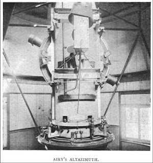 The altazimuth telescope designed by George Biddell Airy, from E. Walter Maunder's 'The Royal Observatory, Greenwich: a Glance at its History and Work' (1900).