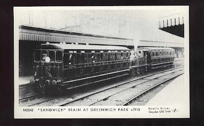 Sandwich train at Greenwich Station, c.1910.