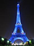 Париж. Голубая Эйфелева башня.