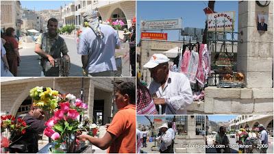 Жители Вифлеема, торговцы на улице, фотографии
