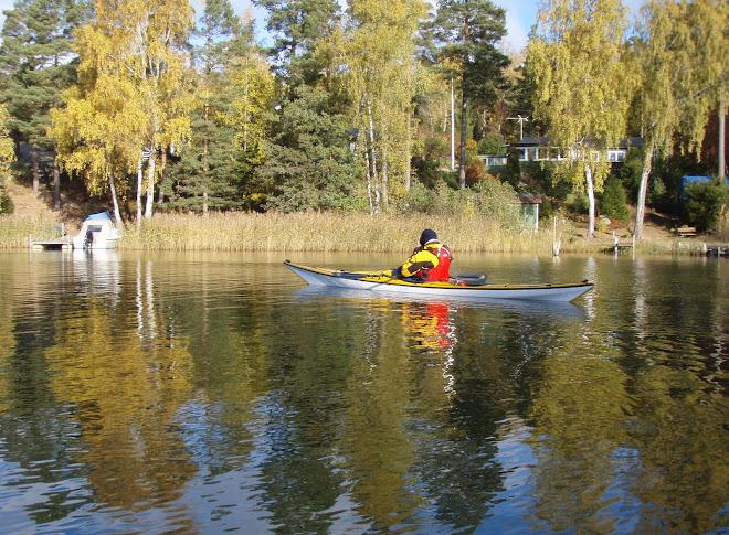 Höstpadddling med Claus 2009-10-14