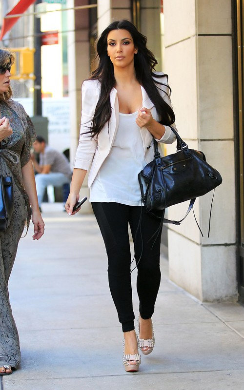 Steal Their Style Kim Kardashian In Studded Clou Noued Louboutins