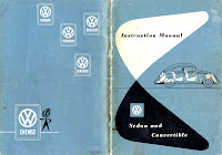Instruction manual vw beetle sedan and convertible 1954.