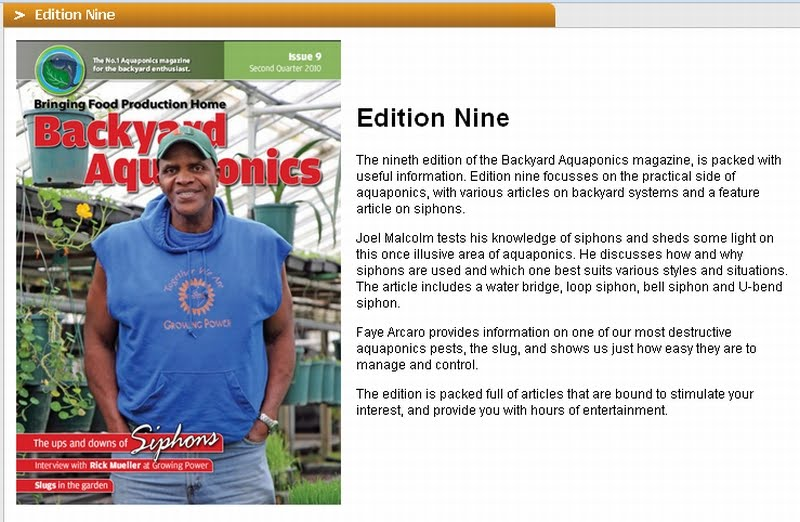 Backyard Aquaponics Magazine : Affnans Aquaponics Backyard Aquaponics Magazine