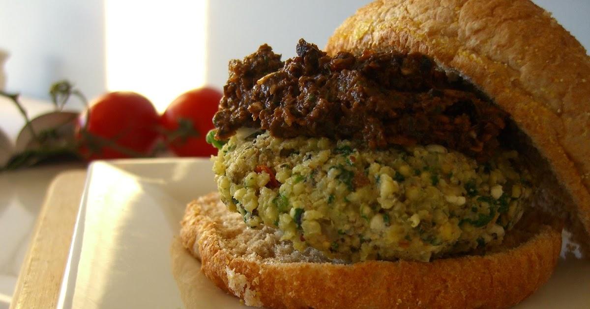 fuel your body: Mediterranean vegetarian burgers