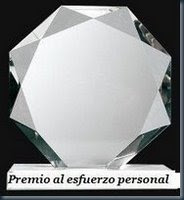 Premio al Esfuerzo Personal otorgado por Luis Tamargo
