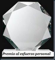 Premio al Esfuerzo Personal otorgado por Luis Tamargo