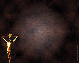 Jesus Christ on cross at crucifixion power point template background image free Christian clip art(cliparts) and bible coloring pictures of Jesus Christ download