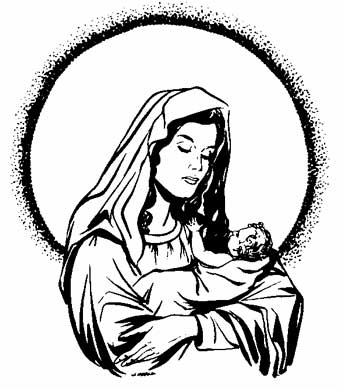 Coloring Page Of Mother MaryVirgin Mary And Child Jesus