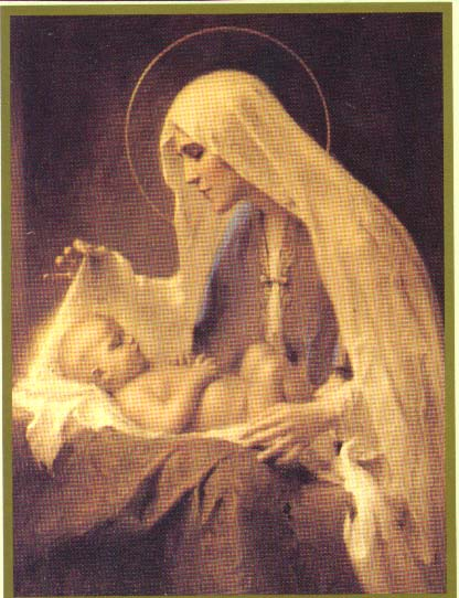 images of jesus christ with mary. Virgin Mary caring baby Jesus in her lap