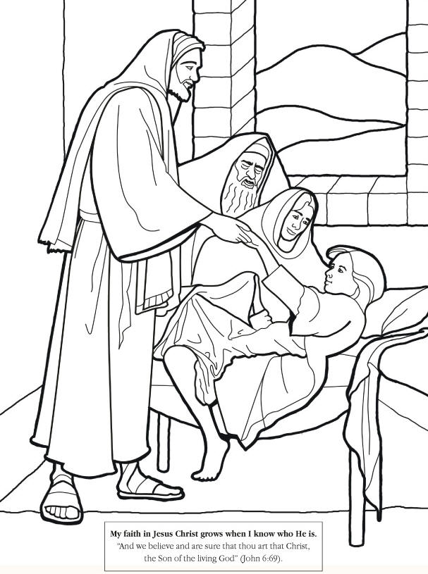 Jesus Christheals Jairus Daughter Coloring Page For Kids To Apply Color Bible Clipartsbible Clip