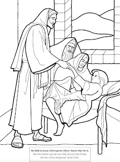 Jesus Christheals jairus daughter coloring page for kids to apply color bible cliparts(bible clip arts) Christian children coloring pages activities for children download for free