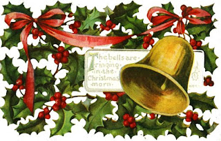 Christmas bell and decorated Cherries background image download free bible coloring pages