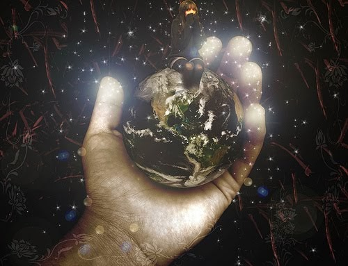 god holding the world in his hands photos and clip art
