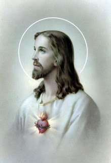 Glowing sacred heart of Jesus Christ photo