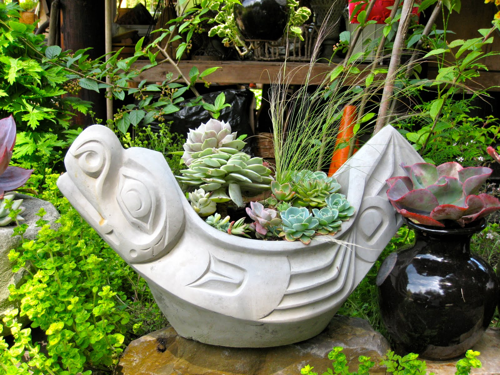 Beautiful garden planters by cleo pirtle this and that for Beautiful planters