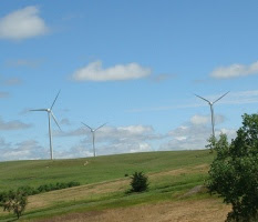 Wind turbines in Ellsworth County
