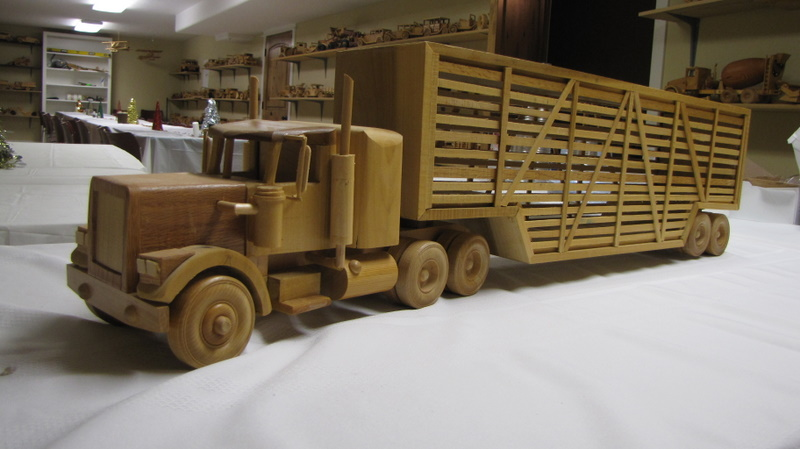 ... wood models of any vehicle you could imagine. : Wooden Cattle Truck