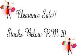 Clearance Sale!! Stocks Below RM 20