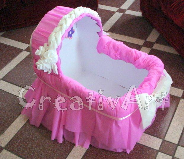 Cuna de carton para regalos baby shower - Imagui