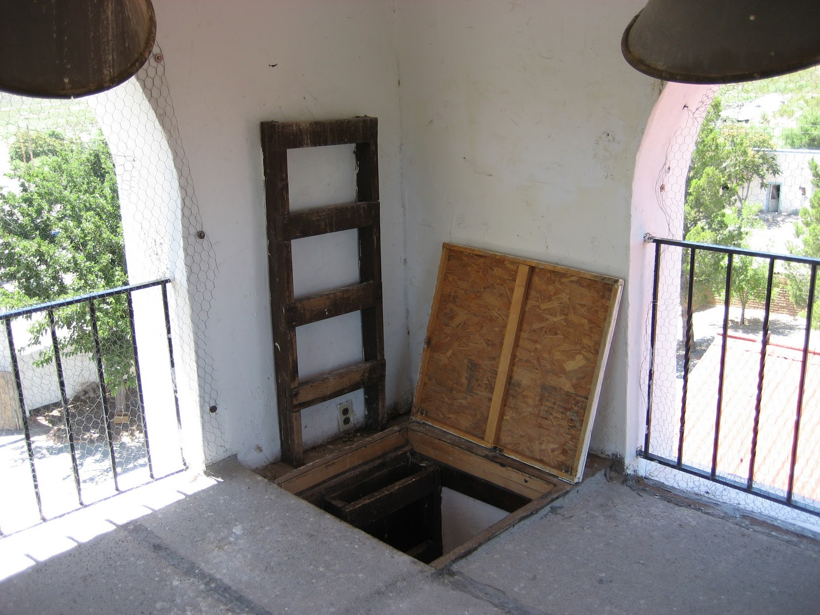 trap door with bell tower