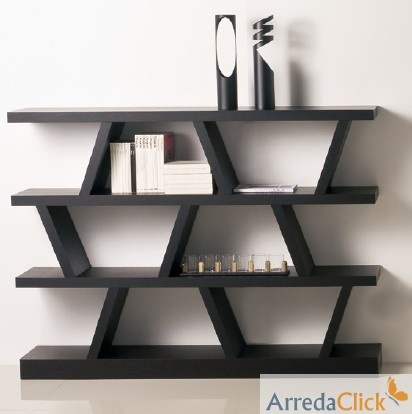 arredaclick mobilier italien biblioth que double face. Black Bedroom Furniture Sets. Home Design Ideas
