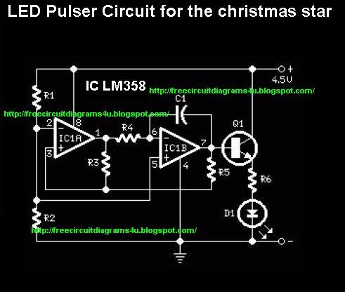 wiring schematic diagram guide led pulsere circuit for thewiring schematic diagram guide led pulsere circuit for the christmas star