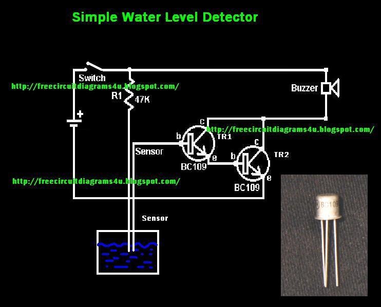 Water Level Detector Circuit Diagram | Electronik Computer Tips Simple Water Level Detector