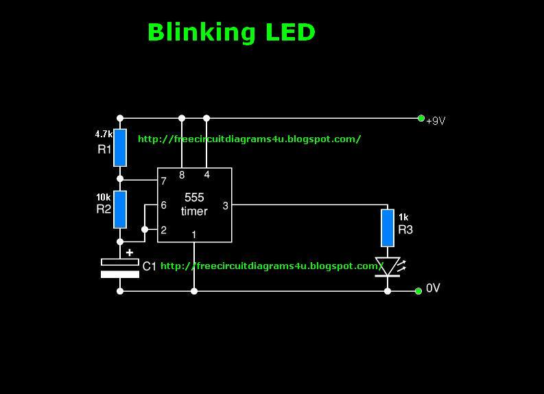 Free Circuit Diagrams 4u  Blinking Led Circuit Diagram