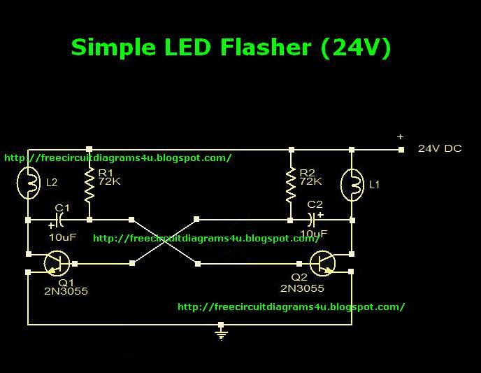free circuit diagrams 4u simple flaher circuit diagram 24v