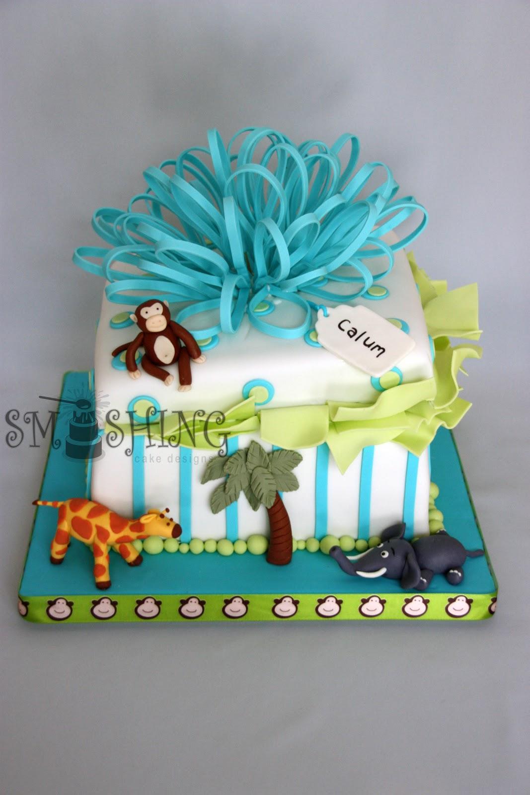 Smashing Cake Designs Zoo Themed First Birthday Cake