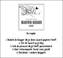 Award ontvangen, Beautiful Blogger