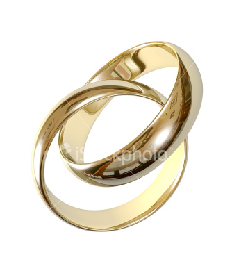 Simple wedding rings in gold