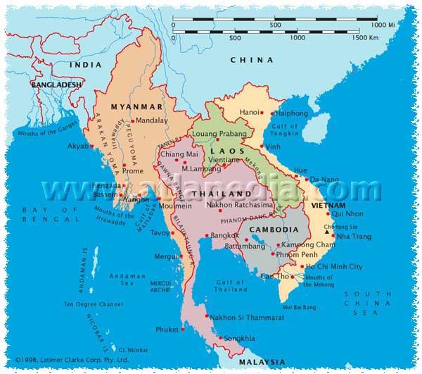 Vietnamin kartta