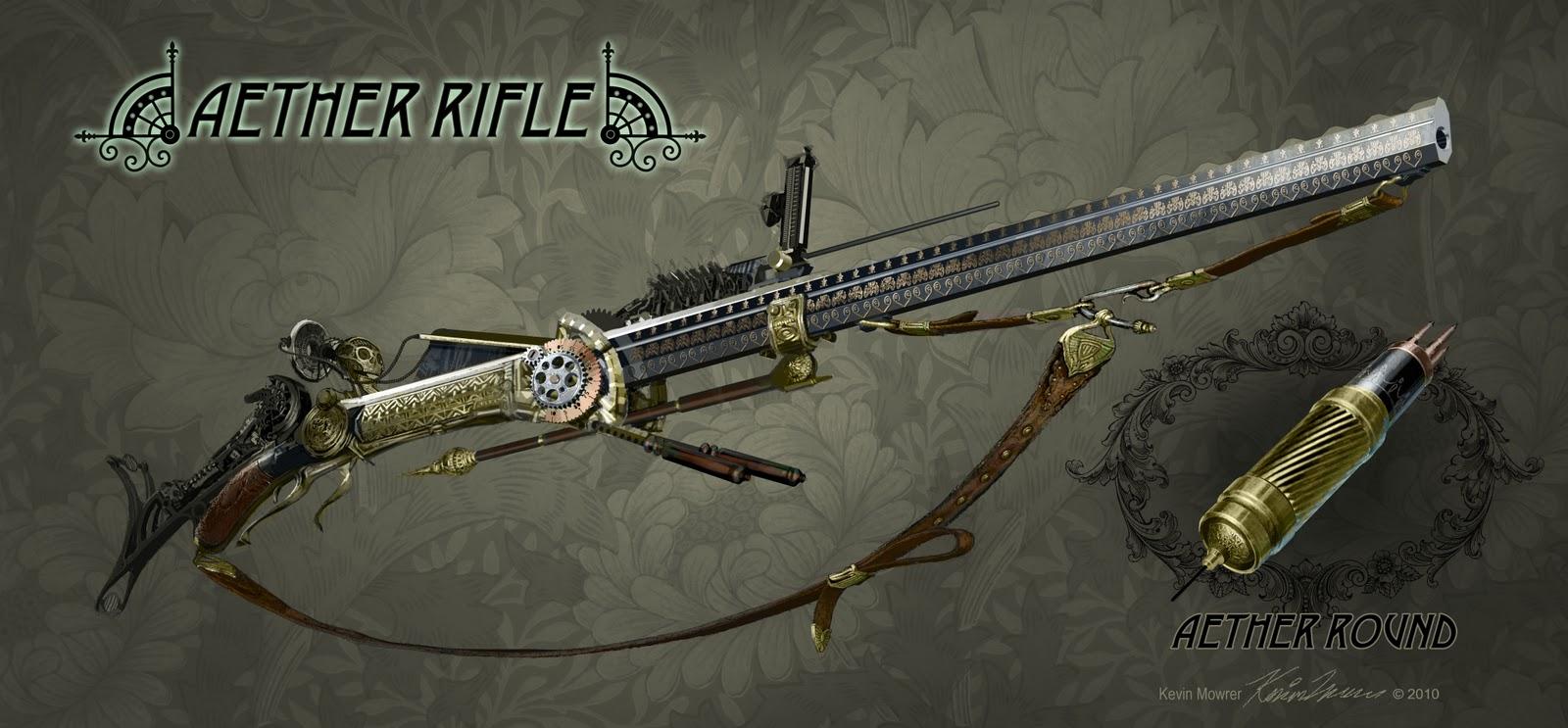 "Alexander ""Seryivolk"" Karlov, Mercenario de los Tuneles Steampunk+Aether+rifle+V5"