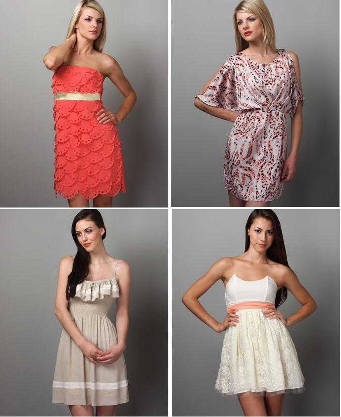Bridesmaids on a budget for Online stores like lulus