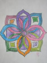 Boceto de uno de mis mandalas