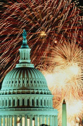 Fireworks over the Capitol Building