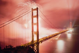 Fireworks over the Golden Gate