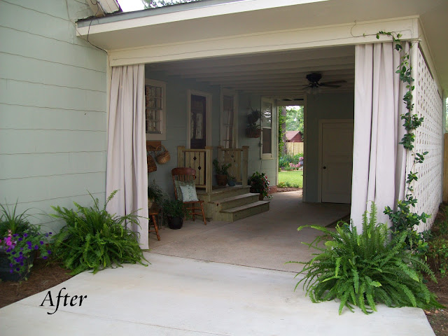 Cottage Hill: Shabby Carport Turned Breezy Patio
