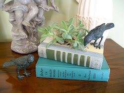 Vintage Books Turned Planter