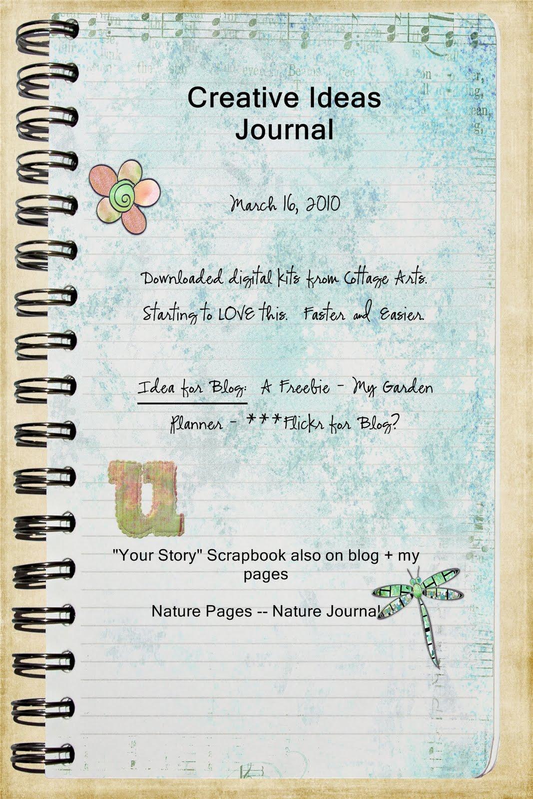 Journey scrapbook ideas - Creative Ideas Journal