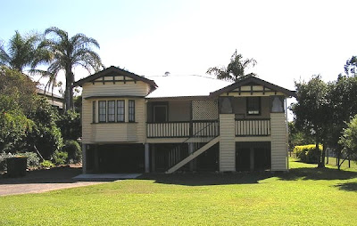 Arts and Craft style, with porch and decorative gables