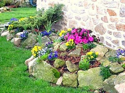 Pon linda tu casa decorar con piedras los jardines - Disenos de jardines con piedras blancas ...