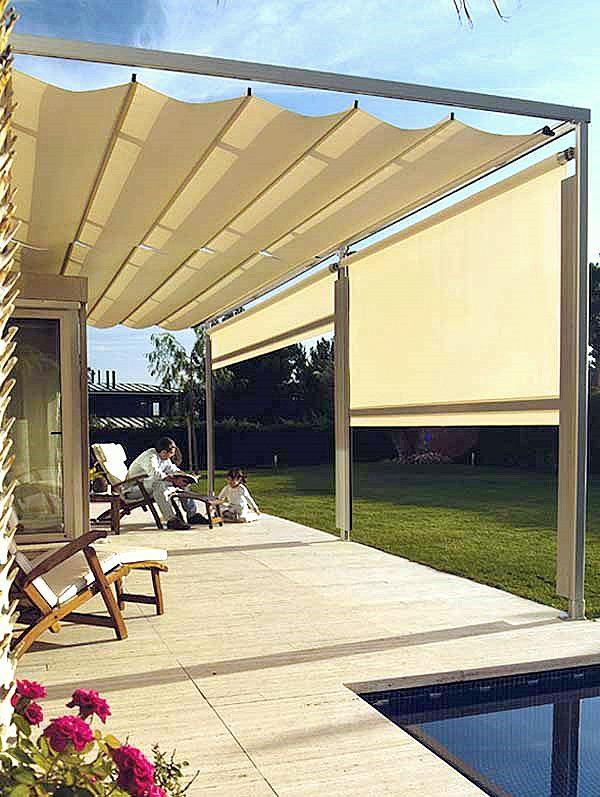 Muebles y decoraci n de interiores toldos para la terraza for Toldos mecanismos para toldos