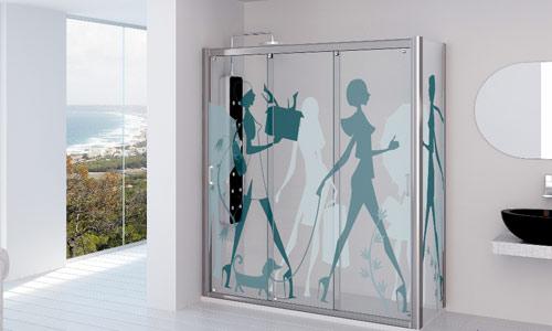 Muebles y decoraci n de interiores as son las nuevas mamparas de ba o - Mamparas de bano con dibujos ...