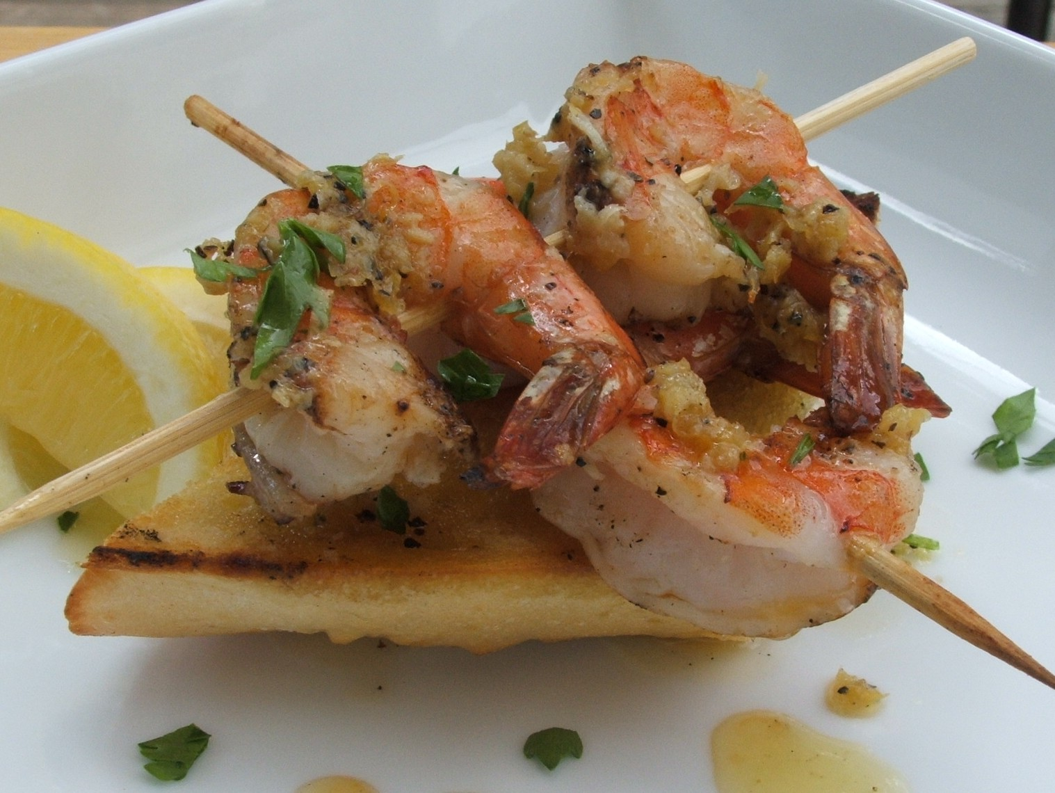 ... Montroy–Angie's Pantry: Grilled Garlic Shrimp Over Baguette