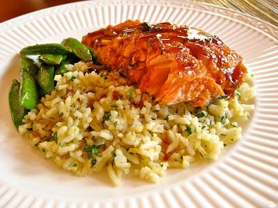 Chipotle Honey-Lime Bourbon Salmon from the Kentucky Bourbon Cookbook